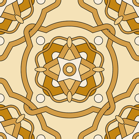 amazing wallpaper: Abstract copper seamless pattern with decorative elements on a light background