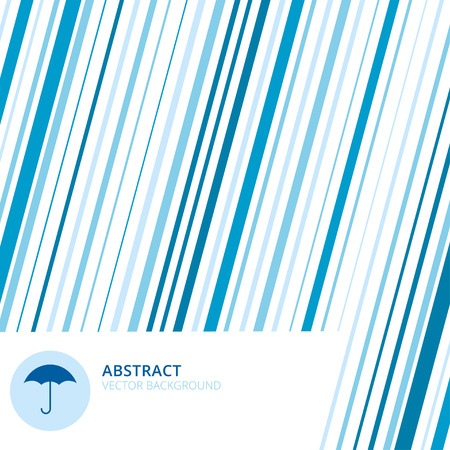 Abstract rain background. Modern simple minimalistic design style background with umbrella sign and place for text Illustration