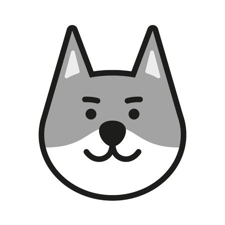 gray wolf: Gray Wolf Icon Illustration