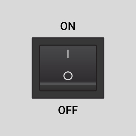 switch off: On Off switch -  design button or icon, in on position
