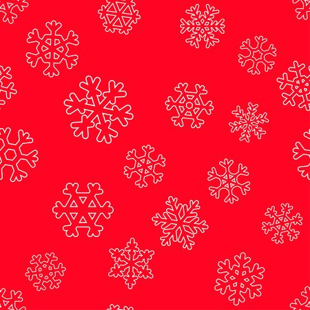 Seamless winter christmas holidays pattern. wallpaper with white snowflakes. New years design background Illustration