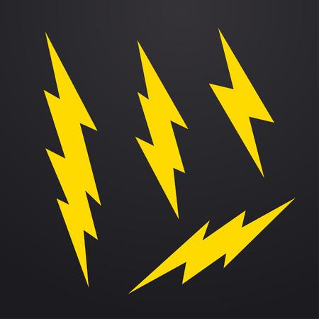 thunderbolt: Lightning bolt icons set, thunderbolt vector illustration
