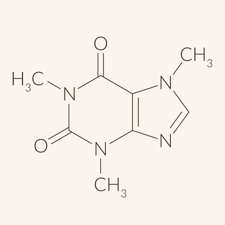 Caffeine molecule chemical structure
