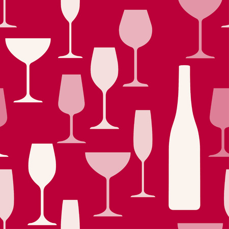 white riesling grape: Wine glasses and bottle background pattern.