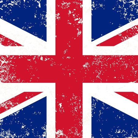 festival scales: United Kingdom or Britain flag in grunge style