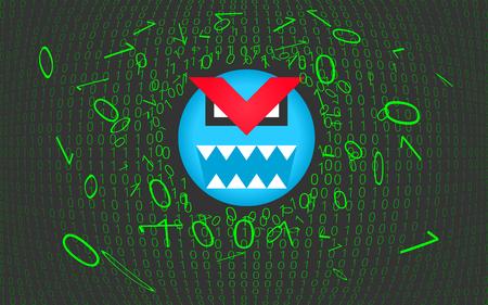 Computer virus, trojan, malware, hacker attack