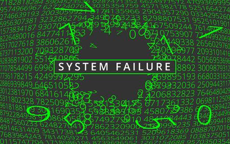 System failure background. Illustration
