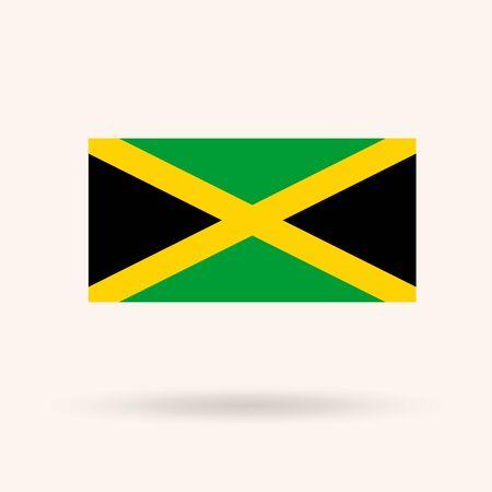 flagged: Flag of Jamaica. Vector Illustration