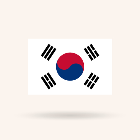Flag of South Korea. Accurate dimensions, proportions and colors. Vector Illustration