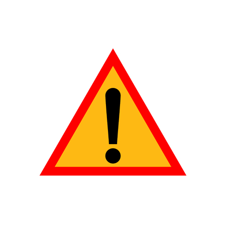 Triangle attention sign with exclamation mark symbol