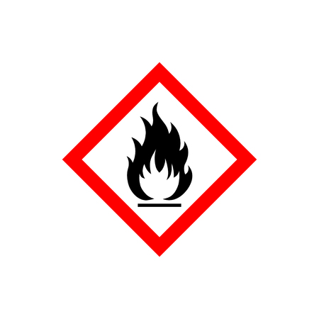Flammable sign icon