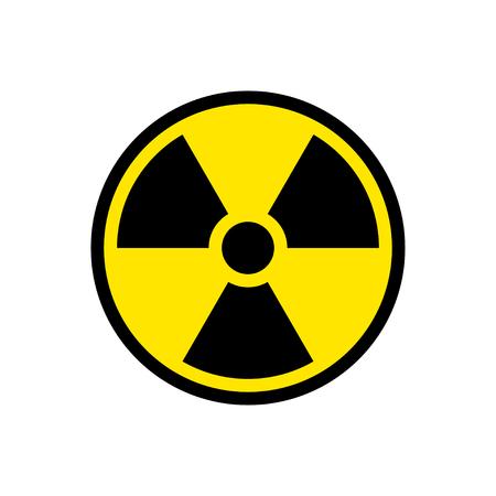 Radiation hazard sign symbol