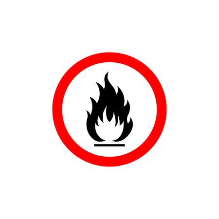 riesgo biologico: Icono de signo inflamable