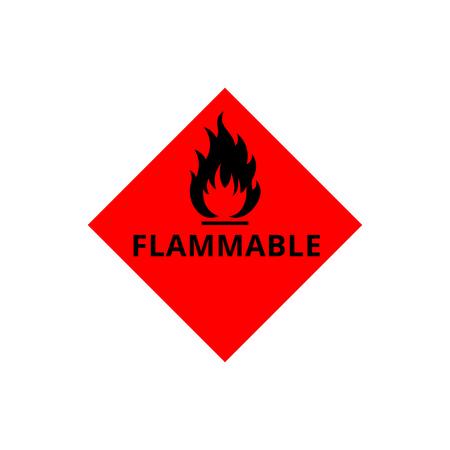 Icono de signo inflamable