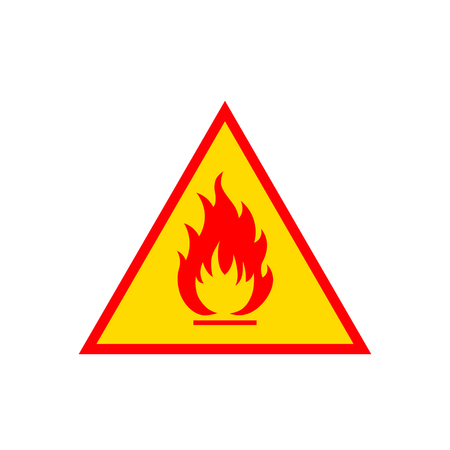 perilous: Flammable sign icon