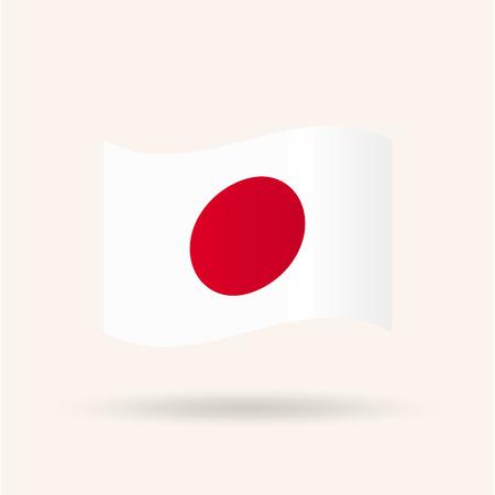 bandera japon: Bandera de Japón ilustración vectorial