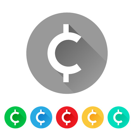 Set of cent sign icons, currency symbol 일러스트