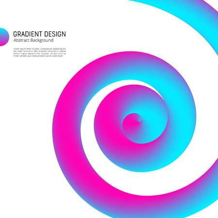 Gradient shapes design bright abstract vector background. Illustration