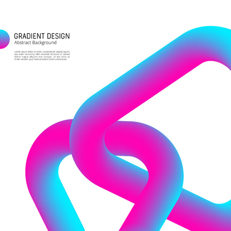 Gradient shapes design bright abstract vector background. Ilustracja
