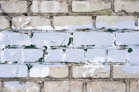 Old vintage dirty white brick wall