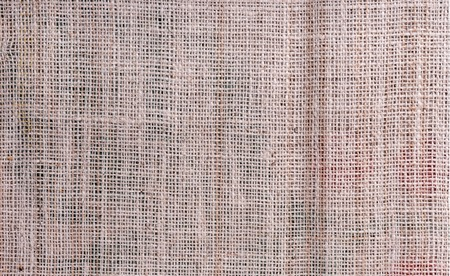 Fabric sackcloth burlap cream brown color background