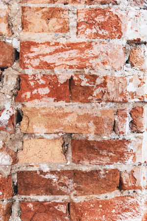 Brick weathered grunge wall background or texture