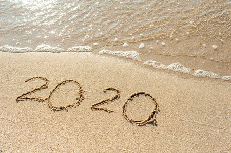 2020  inscription in the sand