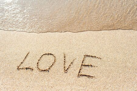 Love on sand Banque d'images