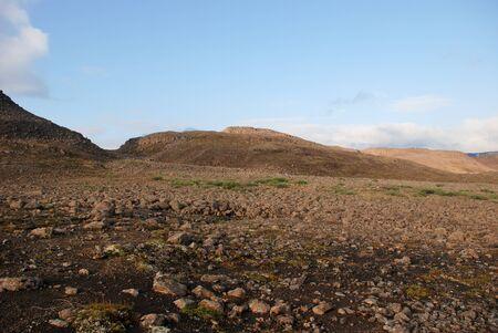 Rocky landscape on the Putorana plateau  The origins of the river Bucharama  Russia, Taimyr Peninsula