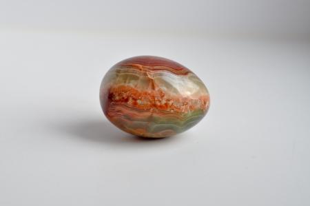 Easter egg made of Jasper  Jewelry of semi-precious stones  Archivio Fotografico