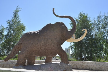 Monument mammoth  Located in the courtyard of the Institute for the study of permafrost in the city of Yakutsk, Russia