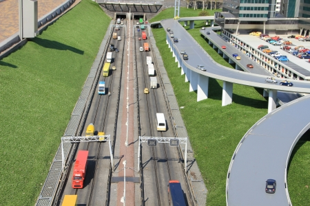 The toy city Madurodam  The Hague, the Netherlands, the model of the Dutch city of scale 1 25