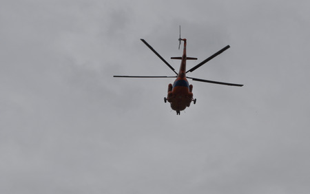 rescue service: Helicopter rescue service. Rescue service of Yakutia organizes the search for the missing tourists.