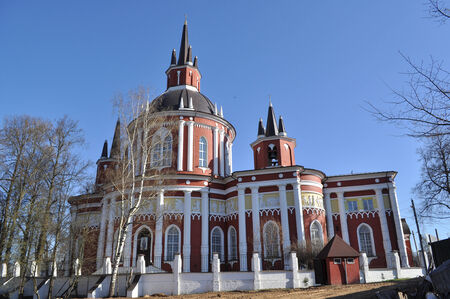 The Church of St  Nicholas the Wonderworker in the village of Tsarevo Pushkin district of Moscow region  Russia  Stock Photo
