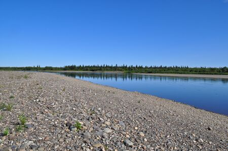 The polar Urals, the lower reaches of the river Lemva, Republic of Komi, Russia.