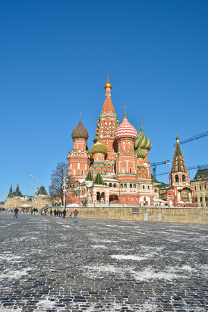 unesco world cultural heritage: St Basils Basilica - the world cultural heritage of UNESCO. Russia, Moscow, Red square.