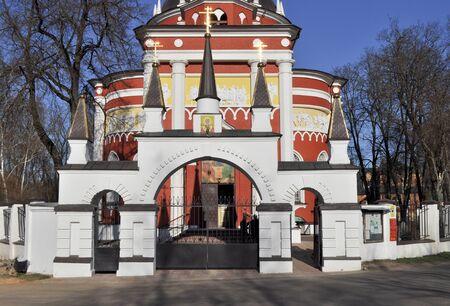 st nicholas: The Church of St. Nicholas the Wonderworker in the village of Tsarevo Pushkin district of Moscow region. Russia.