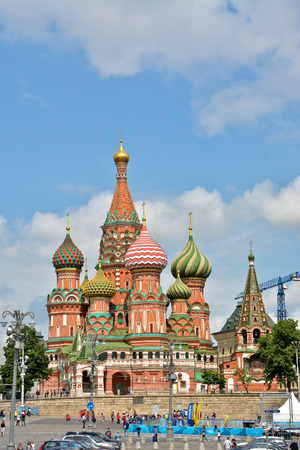St. Basils Cathedral. St. Basils Cathedral on red Square in Moscow - the world cultural heritage of UNESCO. Stock Photo