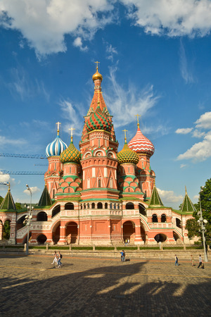 world cultural heritage: St. Basils Cathedral. Intercession Church on red Square in Moscow - the world cultural heritage.