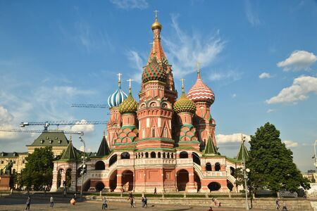 St. Basils Cathedral. St. Basils Cathedral on red square in Moscow on a Sunny summer day.