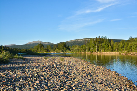 ural: Taiga river in the Northern Urals. The national Park Yugyd VA, the object of UNESCO world heritage site Virgin Komi forests.