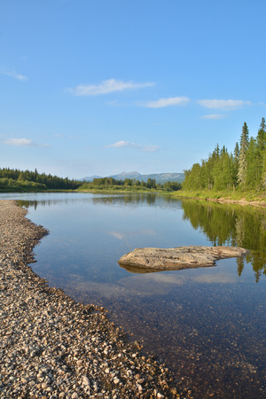 world natural heritage: River Shchugor in the national Park Yugyd VA. The object of the world natural heritage site Virgin Komi forests. Northern Urals, Russia.