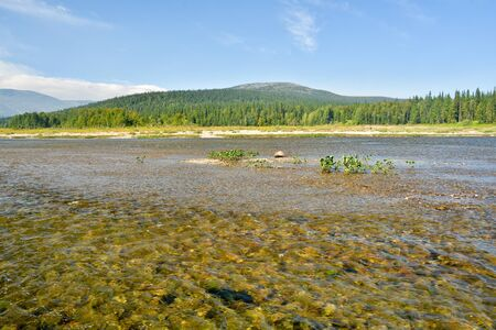 world natural heritage: The river in the national park in the Urals. Virgin Komi Forests World Natural Heritage by UNESCO.