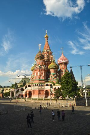 Red Square of Moscow. The historical center of the Russian capital. Stock Photo