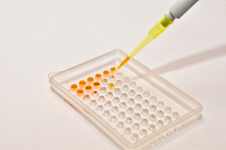 pcr: DNA testing in the laboratory. Equipment for scientific experiments and research biological samples.