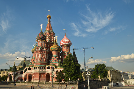 St. Basil's Cathedral in Moscow. Pokrovsky Cathedral on the red square in the Russian capital. Stock fotó