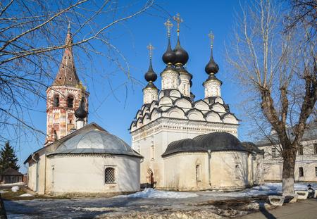 Church of Antipas of Pergamon and Lazarev Church in Suzdal. Orthodox Church in Vladimir region of Russia.