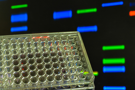 DNA testing. Genome research in the laboratory.