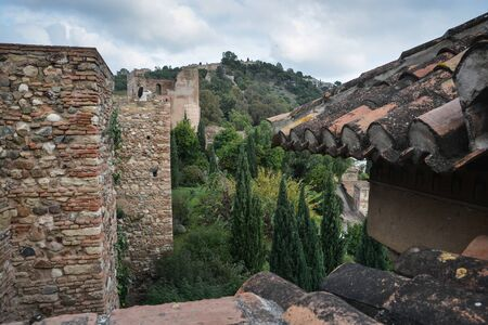 Fortress of Malaga, Andalusia. Sights of southern Spain.