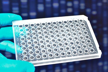 Molecular genetics and biotechnology. In a scientific research laboratory.